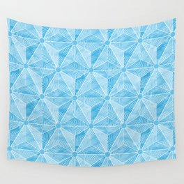 Geodesic Palm_Blue Sky Wall Tapestry
