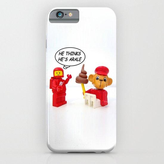 "space lego meeting the ""arale wannabe"" monkey iPhone & iPod Case"