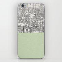 circle iPhone & iPod Skins featuring Circle by David Fleck