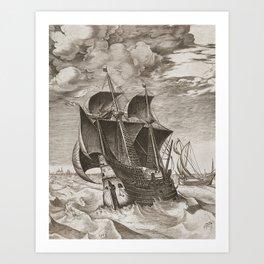 Vintage Ship Art III - Nautical Decor Art Print