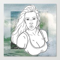 kim kardashian Canvas Prints featuring KIM KARDASHIAN by vllancourt