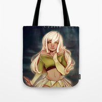 cyarin Tote Bags featuring Golden Eyes by Cyarin