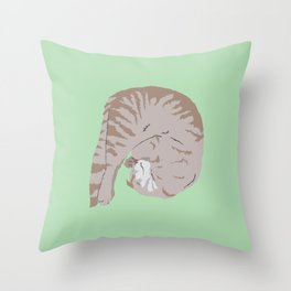 Buff Tiger Throw Pillow