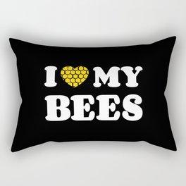 I Love My Bees Rectangular Pillow