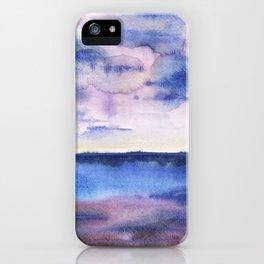 Watercolor blue sea iPhone Case