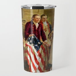 Betsy Ross and General George Washington Travel Mug