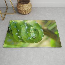 Green snake Rug