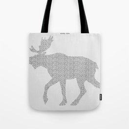 Moose Code Tote Bag