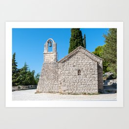 Small church in Croatia Art Print