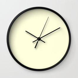 Colors of Autumn Ivory Solid Color Wall Clock