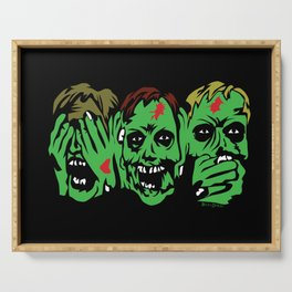 3 Zombies Serving Tray