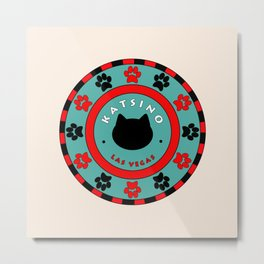 Katsino Las Vegas (animals cats) Metal Print
