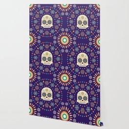 Mexican Celebration Vibrant Latin Dias De Los Muertos Skull Wallpaper