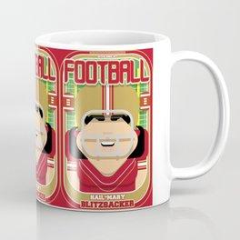 American Football Red and Gold -  Hail-Mary Blitzsacker - Amy version Coffee Mug