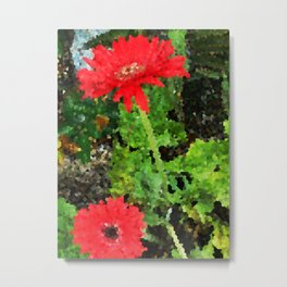 Gerbera Flower Fanciful Fun Metal Print