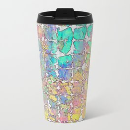 Pastel Abstract Blocks Travel Mug