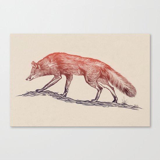 Hunting Fox Canvas Print
