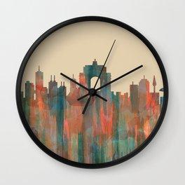 Wellington NZ Skyline - Navaho Wall Clock