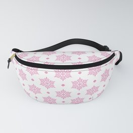 Hot Pink Snowflakes pattern Fanny Pack