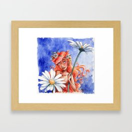 Daisy fairy Framed Art Print