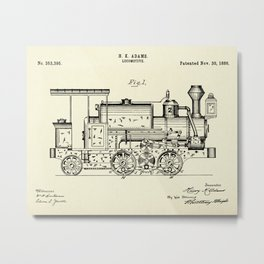 Locomotive-1886 Metal Print