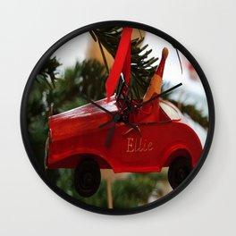Ellie's Christmas car Wall Clock