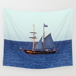 Quebec Sailboat Wall Tapestry