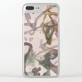 the flowers you gave me Clear iPhone Case