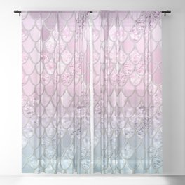 Mermaid Glitter Scales #2 #shiny #decor #art #society6 Sheer Curtain