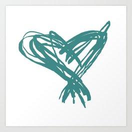 Vee's Heart Art Print