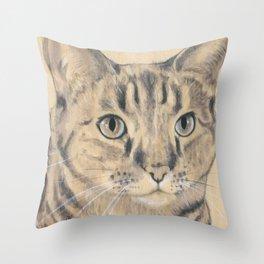 SHEILA THE CAT Throw Pillow