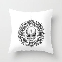 Enlightened Skull Throw Pillow