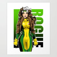rogue Art Prints featuring Rogue by Genevieve Kay