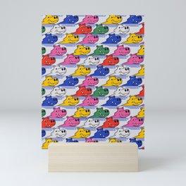 Hippos pattern no2 Mini Art Print