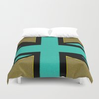 union jack Duvet Covers featuring Glittery Union Jack by Alice Gosling