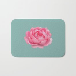 Rose on mint Bath Mat