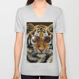 In the Eye of the Tiger Unisex V-Neck