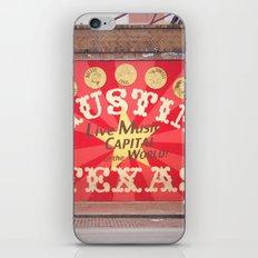 Live Music Capital of the World iPhone & iPod Skin