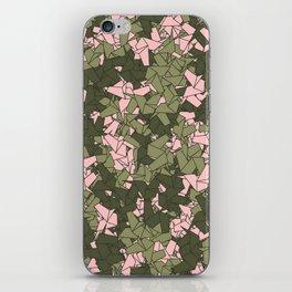 Origami Unicorn Camo PINK iPhone Skin
