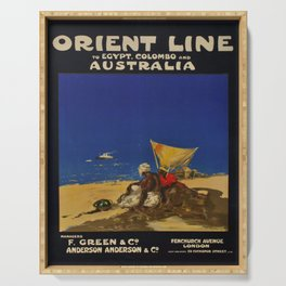 vintage Plakat Orient Line Egypt Colombo Australia voyage poster Serving Tray