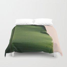 Blush Palm Duvet Cover