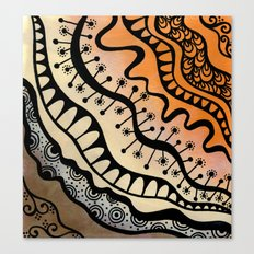 From copper to bronze tangled Canvas Print
