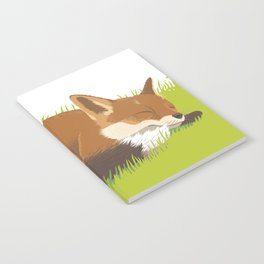 Snoozy Red Fox Notebook