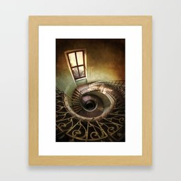 Spiral staircaise with a window Framed Art Print