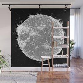 Large Sun Print, monochrome star design by Little Lark Wall Mural