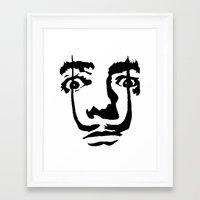 salvador dali Framed Art Prints featuring salvador dali by b & c