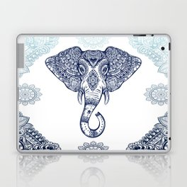 Bohemian Elephant Tribal Boho Gradient Blue Laptop & iPad Skin
