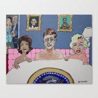 jfk Canvas Prints featuring JFK by Robert E. Richards