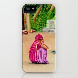 Lonely girl iPhone Case