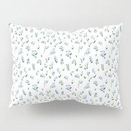 blue lily subtle pattern Pillow Sham